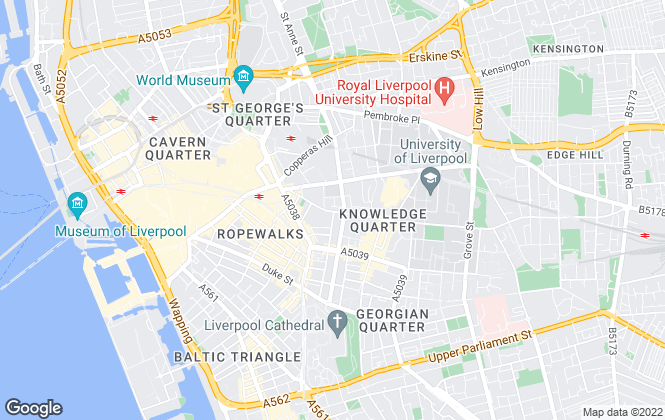 Map for Hunters, Liverpool