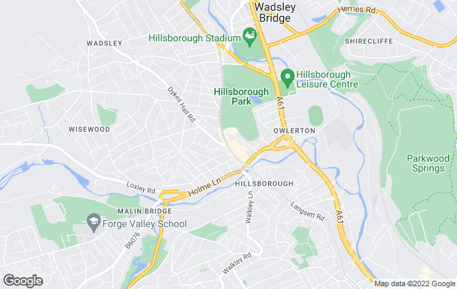Map for Crucible Sales & Lettings, Hillsborough