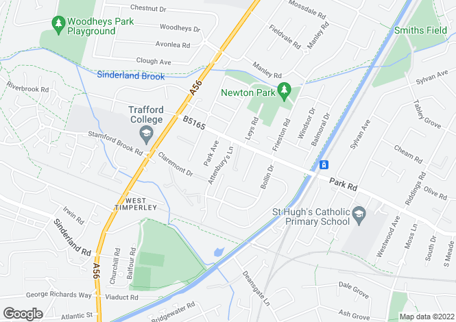 Map for Timperley, Park Road