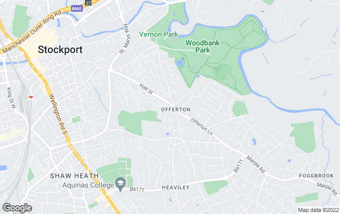Map for House Estate Agents, Stockport