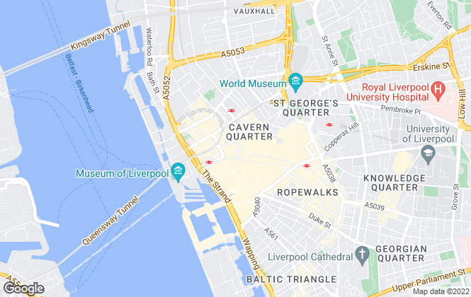 Map for Reeds Rains , Liverpool City Living