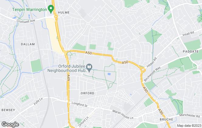 Map for Hamlet Homes, Warrington