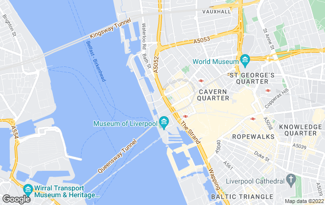 Map for Mann Island, Liverpool