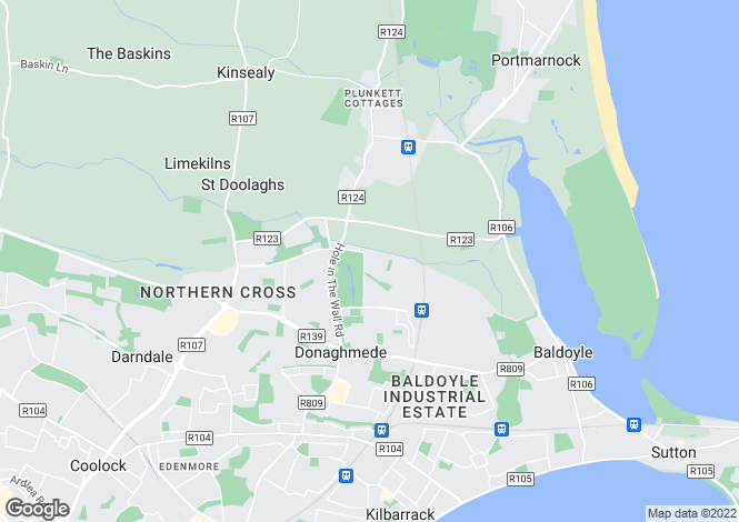 Map for 3 Bedroom Homes, Belltree, Clongriffin, Dublin, 13