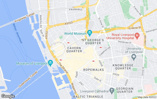 Map for Belvoir, Liverpool
