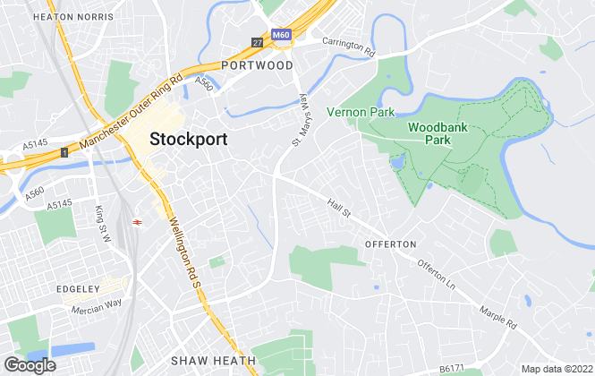 Map for Urban Property Services, Stockport