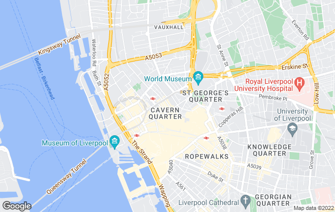 Map for Belvoir, Liverpool Central