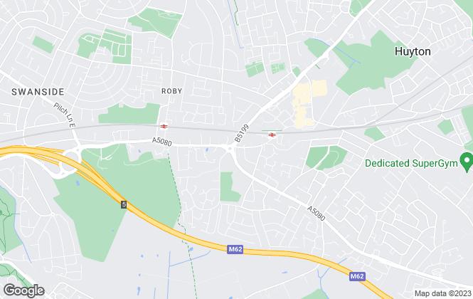 Map for Whitegates, Huyton