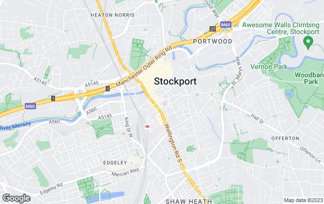 Map for Edward Mellor Ltd, Stockport