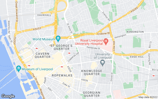 Map for ARW Property Solutions, Liverpool