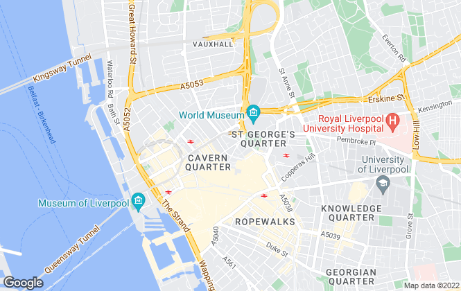 Map for Ascend , Liverpool