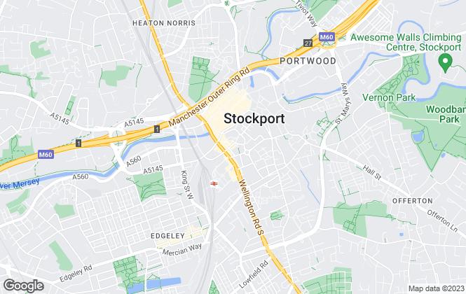 Map for Edward Mellor Ltd , Stockport