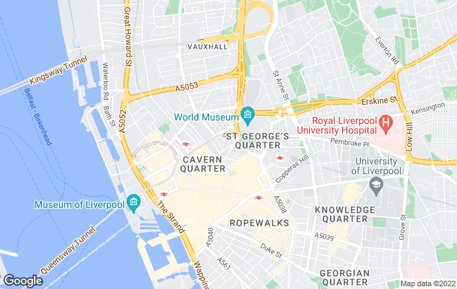 Map for X1 Lettings, Liverpool