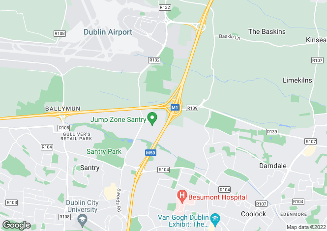 Map for 13 Turnapin Grove, Cloughran, Santry, Dublin 9