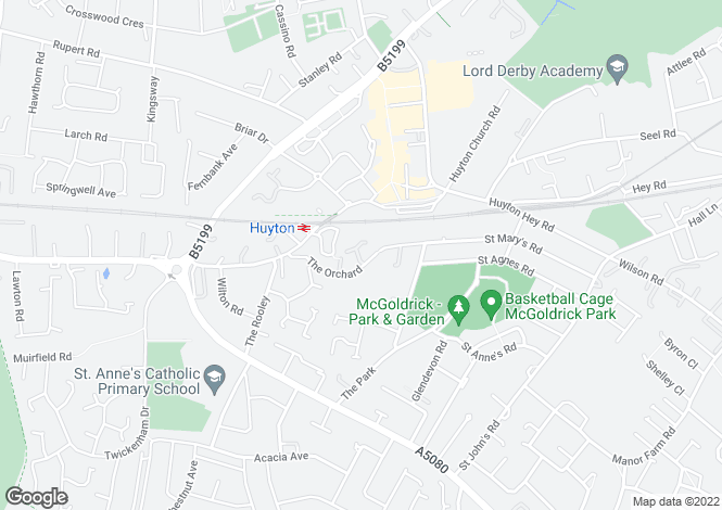 Map for (AL) The Orchard, Huyton, Liverpool, L36