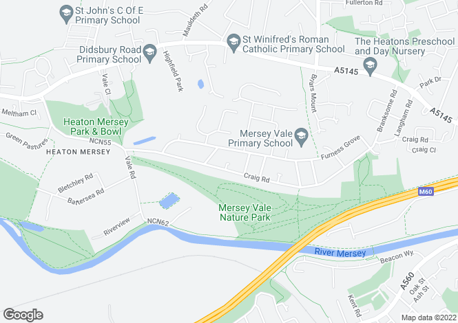 Map for Aspen Close, Stockport, Cheshire