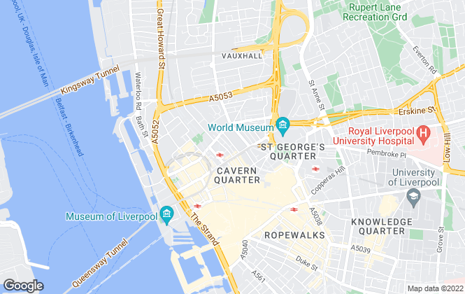 Map for Space Estate Agents, Liverpool