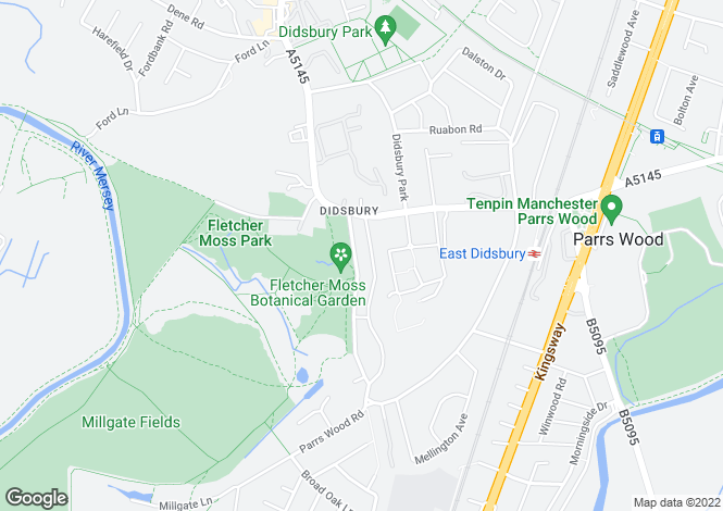 Map for Kingston Road, Didsbury