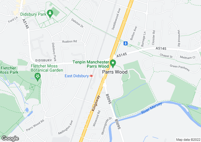 Map for Wilmslow Road, Didsbury