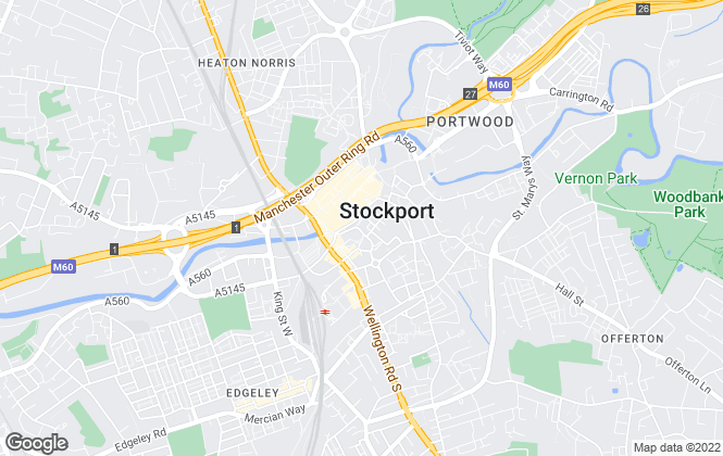Map for Stockport Homes Ltd, Stockport