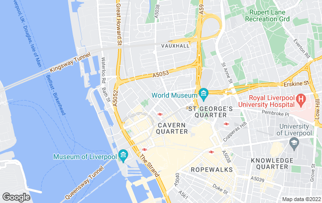 Map for Marshall Property, Liverpool