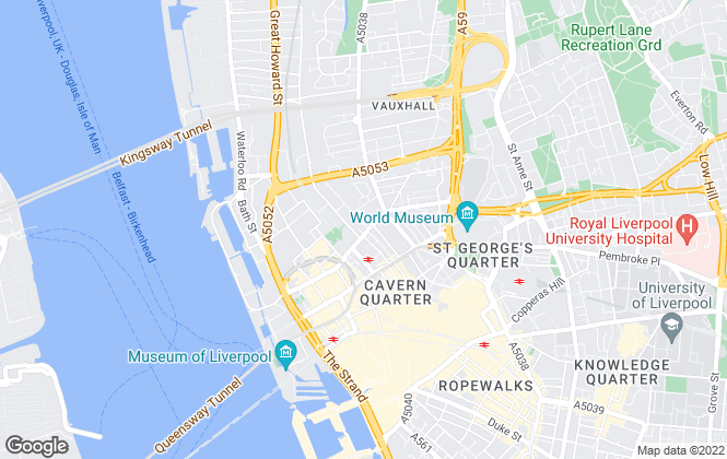 Map for C&D Properties, Liverpool