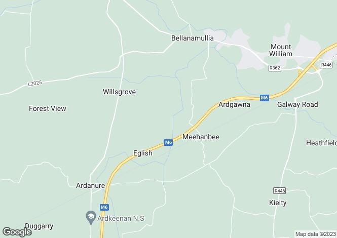 Map for Cornafulla, Athlone West, Roscommon