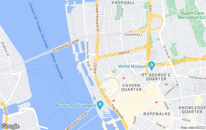 Map for Central Property Management, Liverpool
