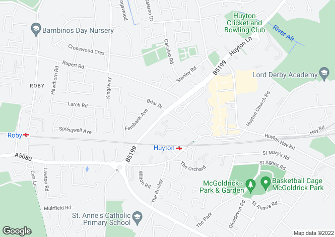 Map for Priory Court, Huyton, Liverpool, L36