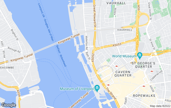 Map for Amazon Management Services, Liverpool