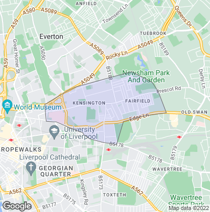 Map of property in Kensington