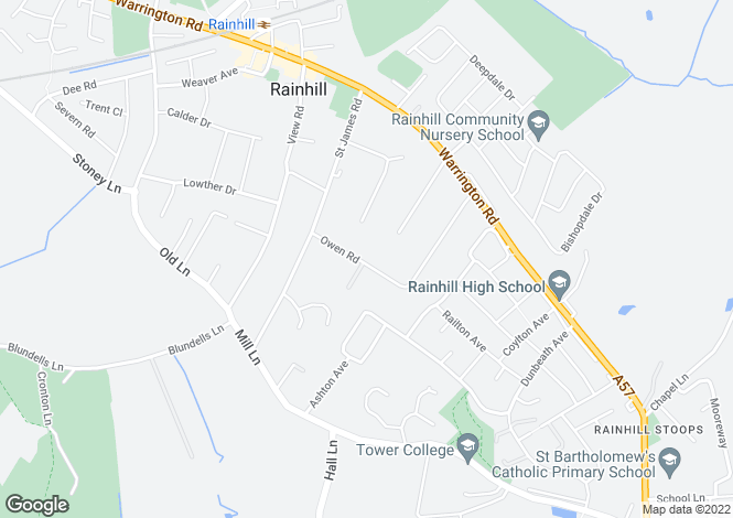 Map for Owen Road, Rainhill, Prescot, L35