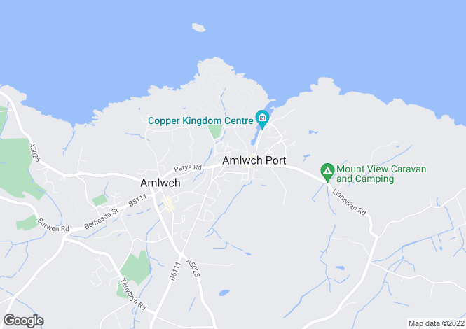 Map for Machine Street, Amlwch Port, Anglesey, North Wales