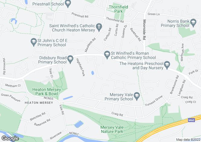 Map for Bankside Court, Cannock Drive, Heaton Mersey, Cheshire
