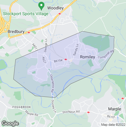 Map of property in Romiley