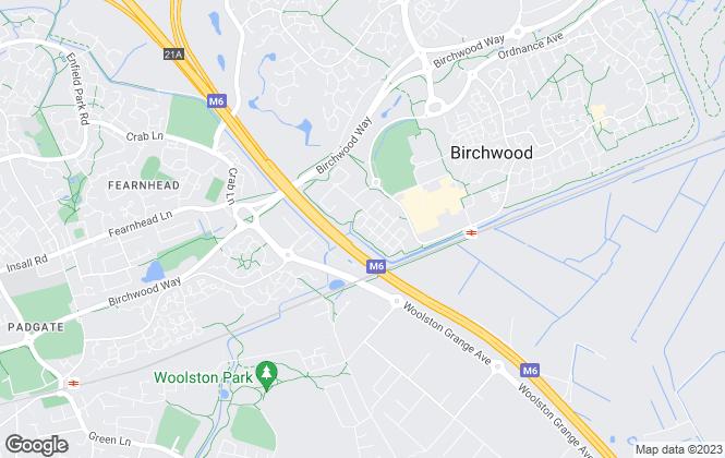 Map for Harper Williams, Warrington