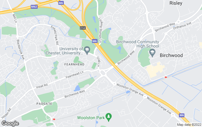 Map for TBM Limited, Warrington