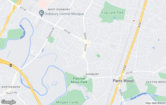 Map for Julian Wadden, Didsbury