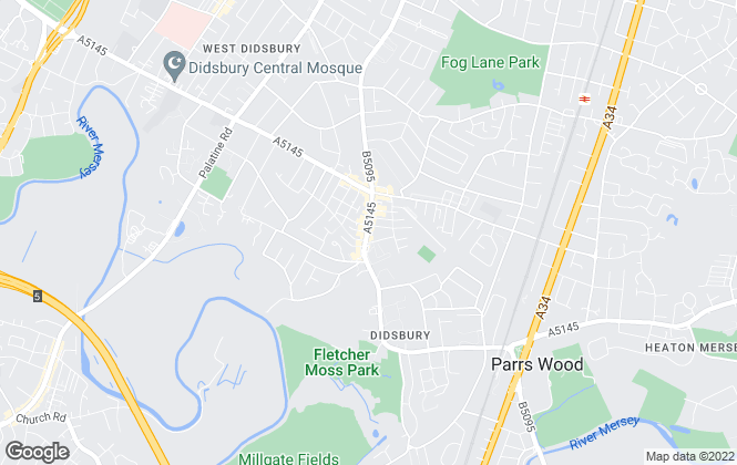 Map for Gascoigne Halman, Didsbury - Lettings