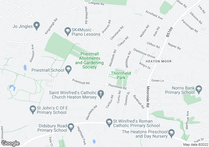 Map for Mauldeth Road, HEATON MERSEY, Stockport