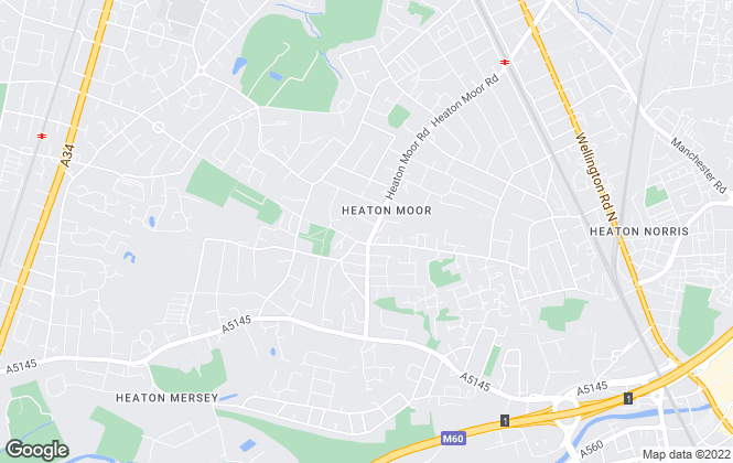 Map for John Mellor Independent Estate Agents, Heaton Moor, Stockport