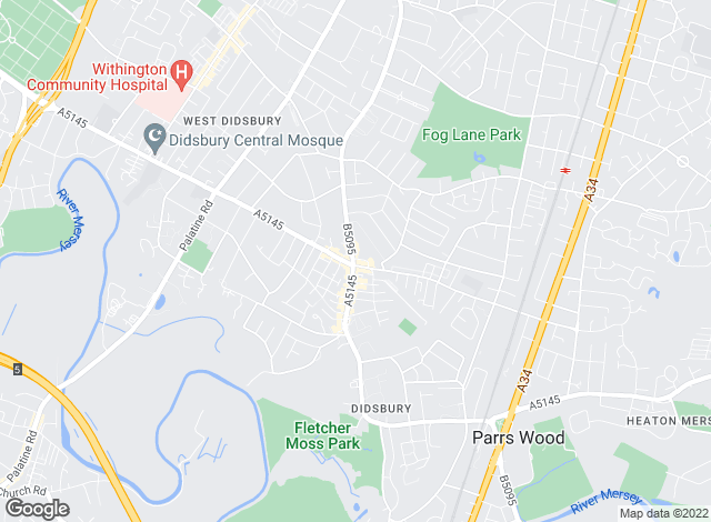 Map for Philip James Kennedy, Didsbury
