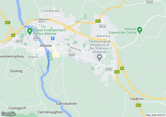 Map for 4 Pinewood, Bonavalley, Athlone, Athlone East, Westmeath