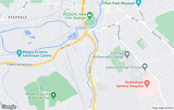 Map for Burgess Commercial Limited, Rotherham