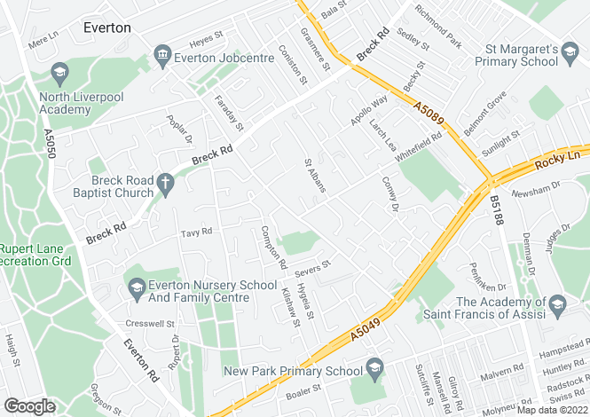 Map for Anfield Business Centre, Breckfield House, Breckfield Road South, Liverpool, L6 5DR