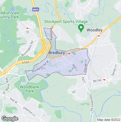 Map of property in Bredbury