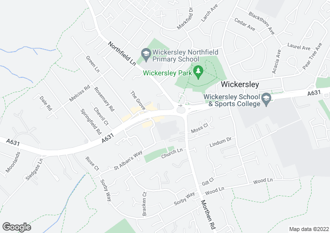 Map for Flat 9 Hastings Court, Wickersley, Rotherham, South Yorkshire