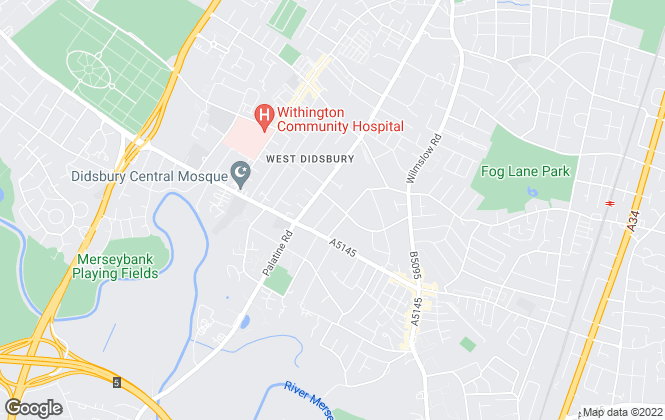 Map for Railton-Meeks Property Management Ltd, Didsbury