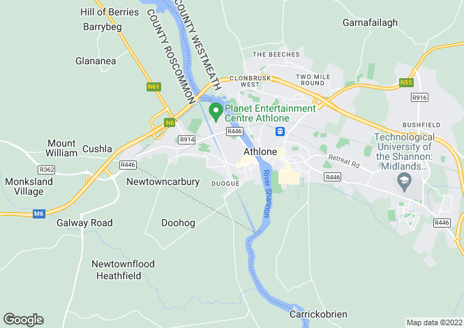 Map for Samz Tavern, Connaught Street, Athlone, Co Westmeath