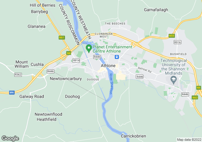 Map for Pearse Court, Pearse Street, Athlone, Co. Westmeath
